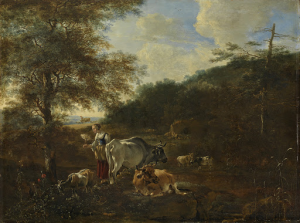 牛のいる風景
