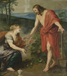 神学校、マグダラのマリアの前にキリストが現れる