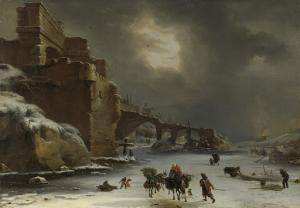 冬の都市の壁