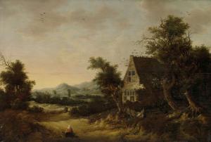 小作人の家と丘陵地