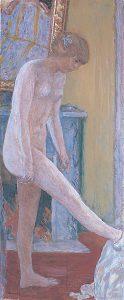 マントルピースの前の裸婦