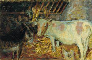 納屋(家畜小屋の牛)