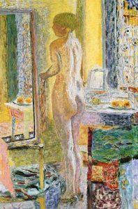 鏡の前の裸婦