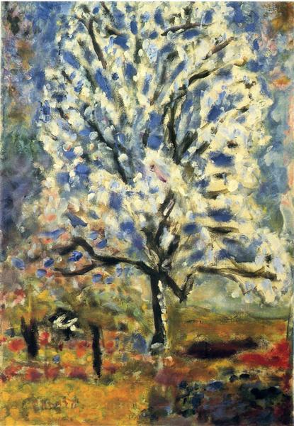 花咲くアーモンドの木