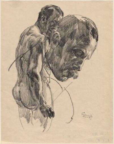 男性裸像の習作