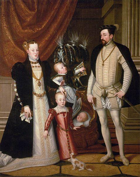 マクシミリアン二世と家族