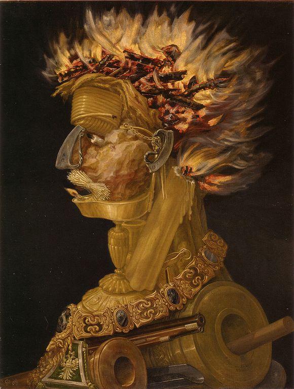 火(連作・四大元素より)》ジュゼッペ・アルチンボルド MUSEY ...