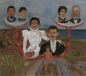私の祖父母、両親そして私(家系図)