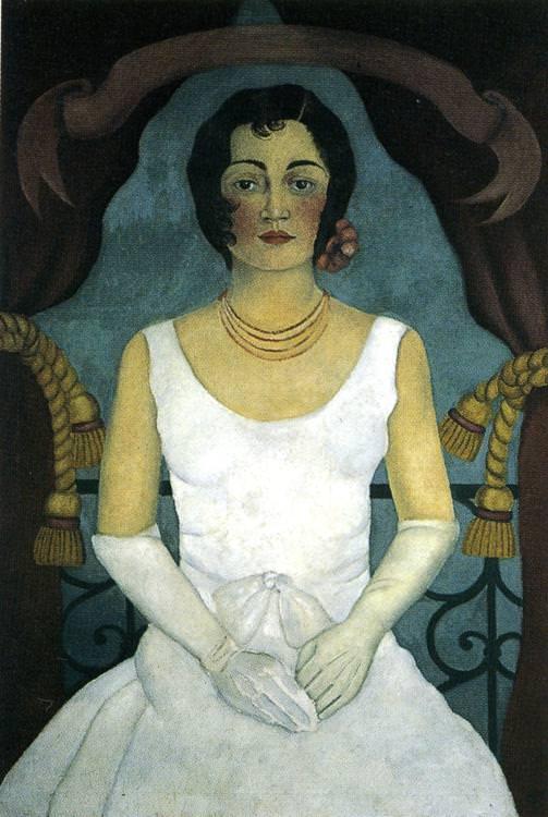 白いドレスの女の肖像
