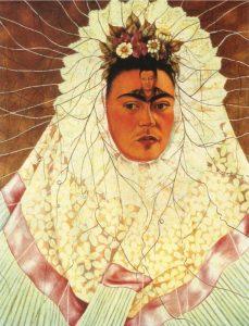 テワナ衣装の自画像