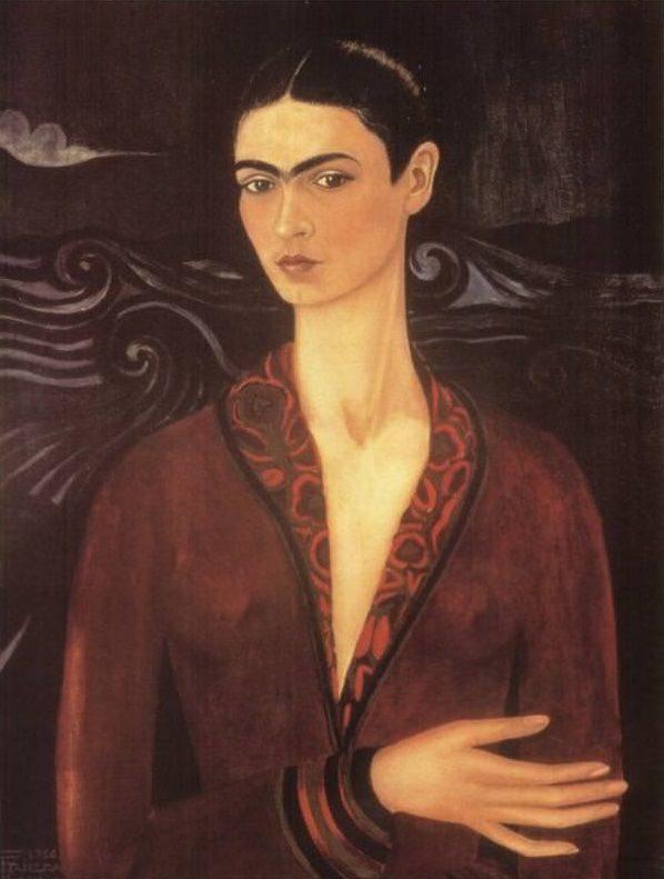 ベルベット・ドレスの自画像