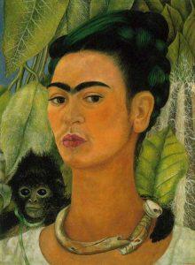 猿のいる自画像(1938)