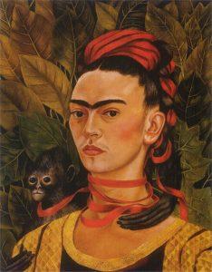 猿のいる自画像(1940)