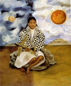 テワカンの少女ルチャ・マリアの肖像