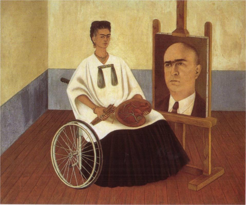 ファリル博士の肖像画のある自画像