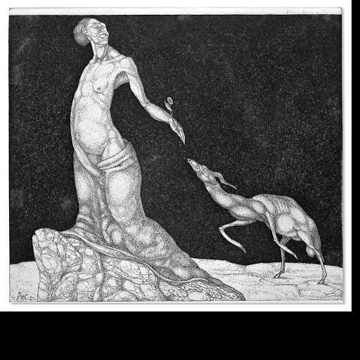 女性と動物
