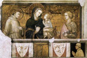 聖母子と聖フランチェスコ, 福音書家ヨハネ