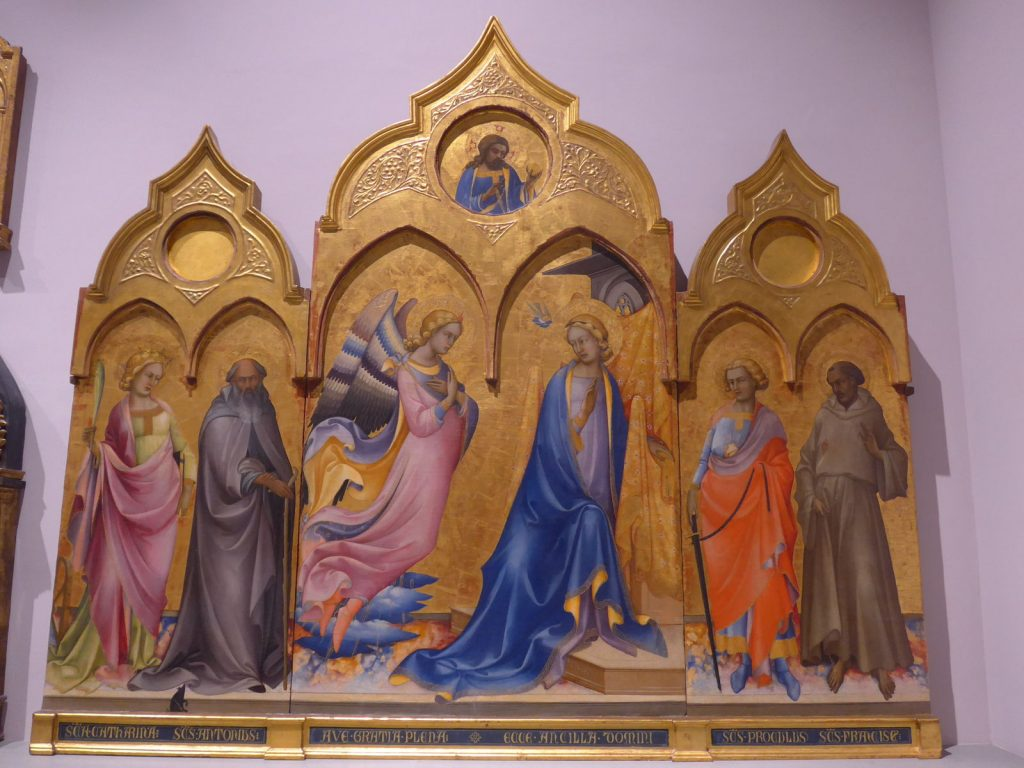 受胎告知と4聖人