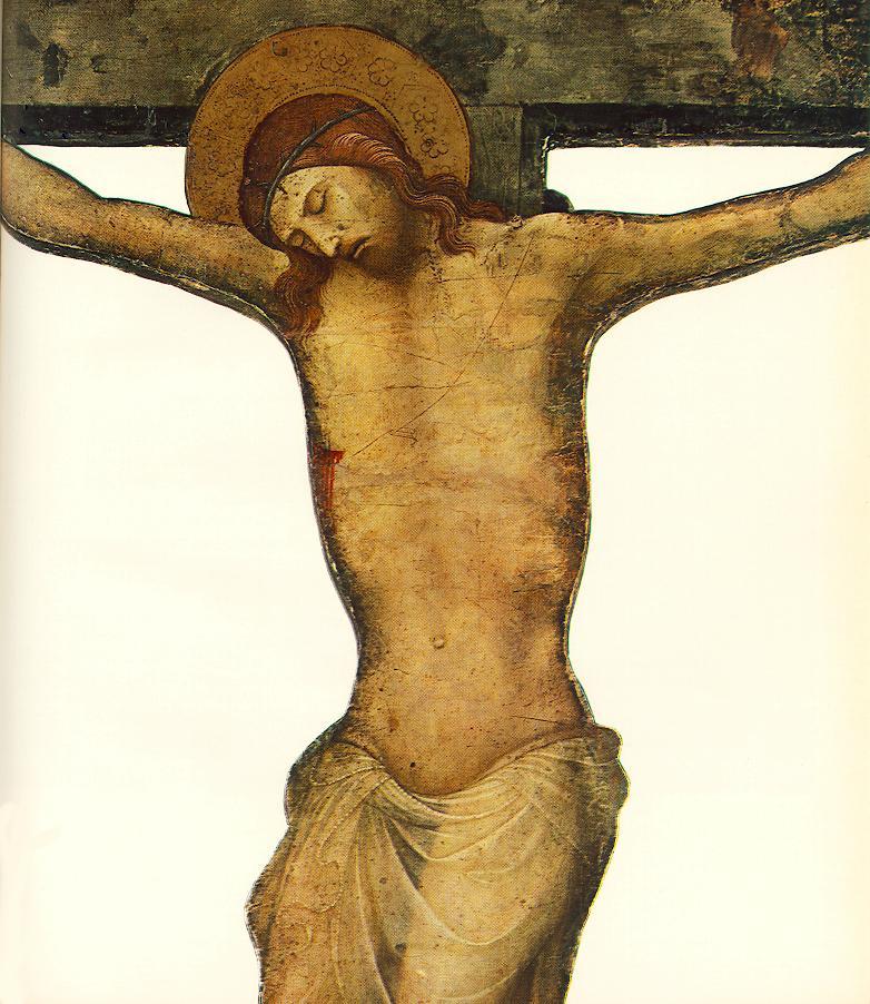 切り取られた十字架像