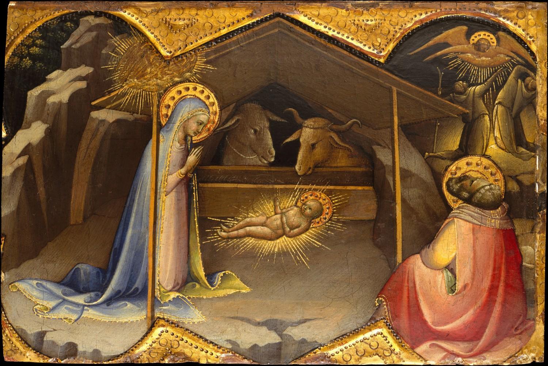 金箔画_《キリストの降誕》ロレンツォ・モナコ|MUSEY[ミュージー]