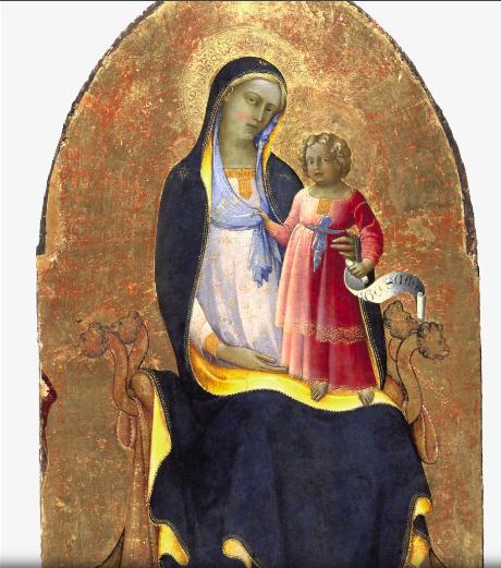 聖母マリアと即位するキリスト
