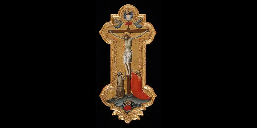 行列用十字架とマダグラのマリアと列福された隠修士