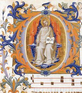 装飾文字O:栄光に満ちたキリスト