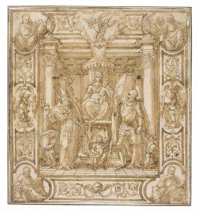 王座の聖母子像