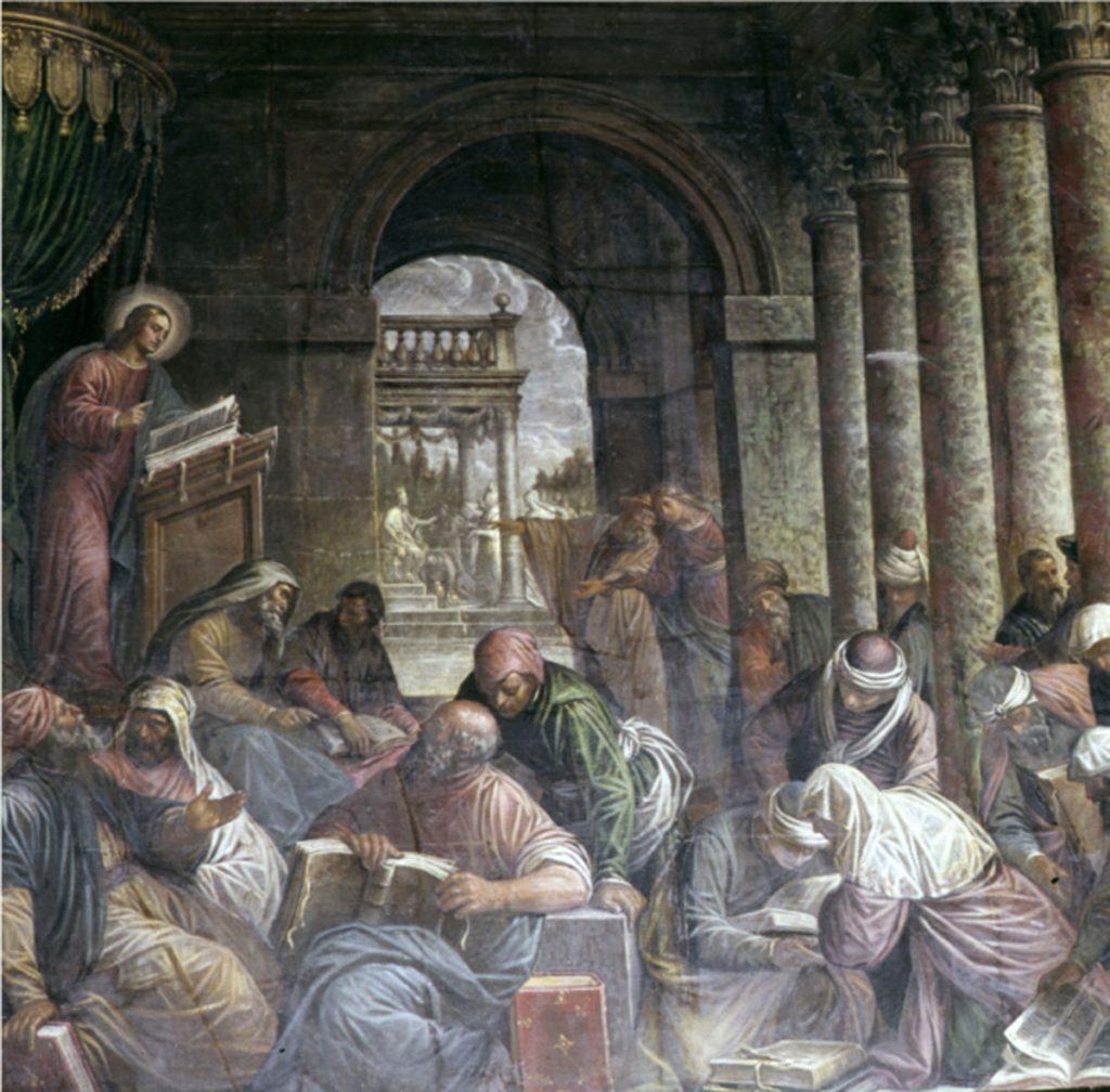 学者に囲まれたキリスト・キリストの生涯