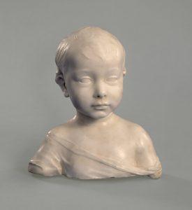 Cat. No. 11 | File Name: 248-002.jpg Desiderio da Settignano (c. 1429 - 1464) A Little Boy, c. 1455-1460 marble National Gallery of Art, Washington, Andrew W. Mellon Collection, 1937.1.113